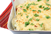 Easy, creamy cauliflower dish, the perfect accompaniment to our London Broil or our Grilled Chicken recipes for Memorial Day
