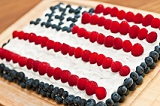 Celebrate Flag Day with a Flag Cake or Tart.
