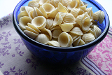 A delightful meatless meal for your family.  The kids will love the ear-shaped, cheesy pasta.