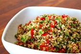Delightful cold salad or entree for hot weather.  The herbs give this a refreshing taste.  Can be made without the shrimp for a vegetarian meal.
