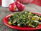 "Collard greens a new way with the addition of Chipotle Olive Oil.  Spicy, with just the right amount of ""kick."""