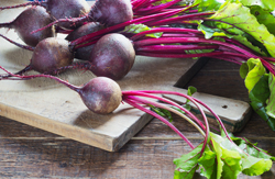 This is a delicious side dish that can be prepared quickly. There's nothing like the taste of freshly roasted beets with sautéed beet greens on the side!