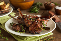Lamb is always a favorite for Easter dinner. Instead of leg of lamb, try this easy-to-prepare lamb chop recipe. Seasoned with fresh herbs, it's a winner.