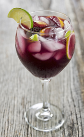 Spice up your wine sangria with Blackberry Ginger Condimento, a variety of fruits and seltzer water. Served on a hot day, this  will quench your thirst!