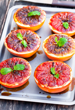 This broiled grapefruit recipe is a wonderful starter for a holiday breakfast meal. Both sweet and tart, the grapefruit is pretty to look at and tasty.