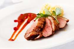 For a more exotic, romantic dinner for 2, try this tasty duck breast recipe. Very easy to prepare. Served with pomegranate citrus sauce, this is special!