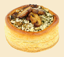 This vol au vent makes a great appetizer. Use a smaller pastry cutter for bite size pieces. They'll disappear quickly.