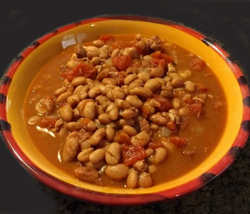 This is a new favorite in Mary Lou's family. This cinnamon-flavored bean dish originated in the Azores and will soon become one of your favorites, too.