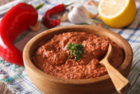 When barbecuing your favorite meat, brush some Muhammara Sauce on the meat and discover a wonderful new taste. Sweet and spicy, this will help you cool down.