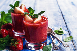 Nothing beats the heat like a cup of gazpacho. This variation of the traditional gazpacho is slightly sweeter and has less of an acidic taste, which you may prefer.